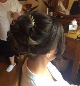 Updo with padding, bridal hair