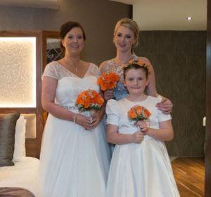 Bridal makeup, Laura and bridesmaids, Wedding makeup
