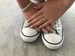 Nails glitter shellac