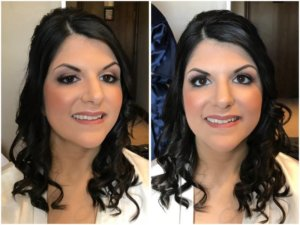Bride with hair and makeup