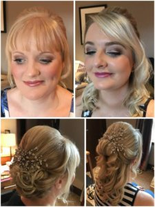 bridesmaids with hair and makeup